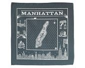 Manhattan bandanna - gray. 90% of sales goes to Sandy relief.