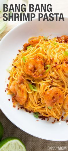 Bang Bang Shrimp Pasta: An amazing healthy recipe filled with pasta with shrimp!
