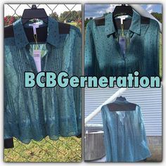 BCBG Sage Stars Blouse BCBG Sage Stars Blouse BCBGeneration Tops Blouses
