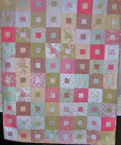 Jelly roll quilt from fig tree fabrics, free pattern from Mary quilts http://www.maryquilts.com/.