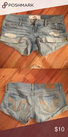 hollister shorts blue hollister shorts, size 0 (my glory days rip) Hollister Shorts Jean Shorts