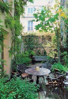 Jardín. Terrace Garden, Garden Spaces, Green Terrace, Terrace Ideas, Cacti Garden, Small Terrace, Balcony Gardening, Small Patio, Patio Ideas
