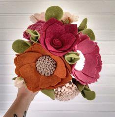 Wedding bouquet wool felt flower bouquet flower от madymae на Etsy