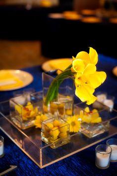 Blue + Yellow Whimsical Mustache Clearwater Beach Hyatt Wedding – UNIQUE Event Design