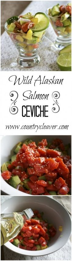 Wild Alaskan Salmon Ceviche - It's like sushi without the roll! - www.countrycleaver.com