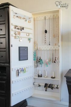Hideaway Jewelry Storage doesn't cost much and it's easy to make. see site for instructions!