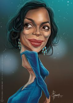 Rosario Dawson Cartoon Faces, Funny Faces, Cartoon Art, Funny Caricatures, Celebrity Caricatures, Celebrity Drawings, Celebrity Pictures, Face Distortion, Josie And The Pussycats