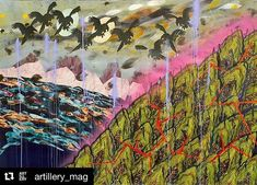 #Repost @artillery_mag  Sublime because closer contemplation reveals increasingly dire even sinister forces at work threatening our environment with the terrors of darkness and degradation. These exotic fables and cautionary tales plead their case in the language of maximum allure; the danger comes later. -Shana Nys Dambrot on Merion Estes work at @cb1gallery . . Page 64 Jan/Feb issue.  #ArtilleryMag #ShanaMakesOurMorning #LAArt . #CB1Gallery #CB1Artist #DTLA #DispatchesFromTheFrontLines…