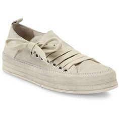 Ann Demeulemeester Side-Lace Suede Sneakers (1.242.515 COP) ❤ liked on