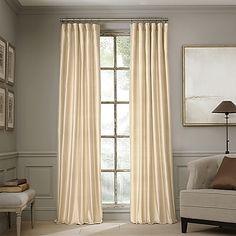 Valeron Estate 95-Inch Silk Window Curtain Panel in Honey