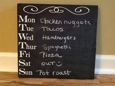 Etsy listing at https://www.etsy.com/listing/160131591/chalkboard-menu-kitchen-sign-erasable