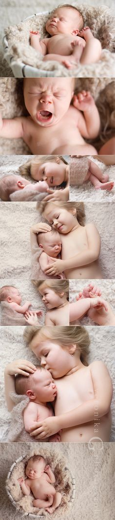 Newborn and Sibling photos.