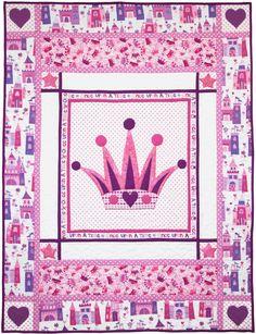=  free pattern =  PRINCESS quilt - includes applique templates - at Michael Miller Fabrics