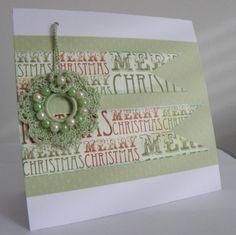 Detachable crochet, a gift card at Christmas