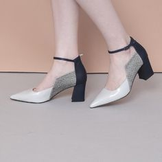 Side square thick with thin strap pointed shoes blue - - High Heels - Low Heel Shoes, Loafer Shoes, Women's Shoes Sandals, Shoes Sneakers, Sneakers Women, Shoes Men, Minimalist Outfit, Minimalist Shoes, Womens Shoes Wedges