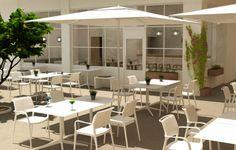 Modelo en 3D para proyecto de cafetería en Soho Málaga por #Dika. #estudio #studio #proyecto #project #málaga #soho #costadelsol #diseño #design #graphic #gráfico #fotomontaje #photomontage #arquitectura #architecture #infografía #infographic #infoarquitectura #infoarchitecture #modelado #modeling #maqueta #model #urbanismo #espacios #spaces #urban #3D #realidad #real #cafetería #coffeeshop #mobiliario #furniture #madera #wood #planta #plant #terraza