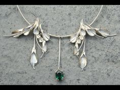 Steven Medhurst - Art Jeweller, special commissioned necklace, sterling silver and green amethyst