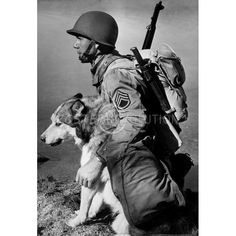 Soldier and Malamute 1942