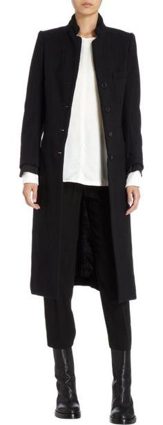 Ann Demeulemeester Side Slit Coat at Barneys.com
