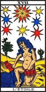 22 Major Arcana of tarot - the Star: Tarot of Marseille Interpretation of the Star tarot trump: What does it mean when you draw the Star card from the Tarot of Marseille? Tarot Gratis, Le Tarot, Witch Powers, Rose Croix, Star Tarot, Tarot Major Arcana, Tarot Card Decks, Star Pictures, Astrology