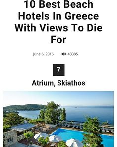 Atrium Hotel, Greece Hotels, Skiathos, Beach Hotels, Trip Advisor, Awards, Travel, Viajes, Destinations