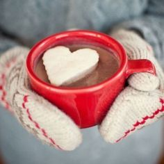 If you're gonna make your own heart-shaped marshmallow, do it justice by melting a generous portion of excellent dark chocolate in some hot milk.  Add a tiny pinch of salt to accentuate the chocolate flavour.  And a pinch of cayenne if you feel adventurous ! Now THAT is a cup of hot chocolate !!