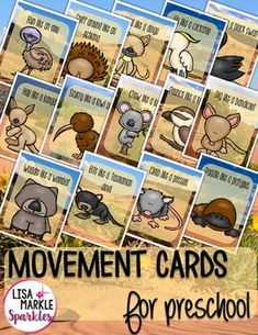 These Australian animal themed movement cards will keep your students active while they're excited for the weather to warm up! Move like a dingo, emu, kookaburra, kiwi bird, kangaroo, and more! Keep those excited little ones busy indoors when it's too rainy to go outside!