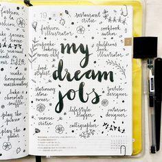 journal page idea... my dream jobs