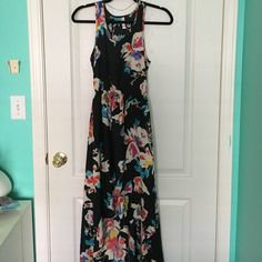 Floral High Low Summer Dress Black Floral High Low Dress Dresses High Low