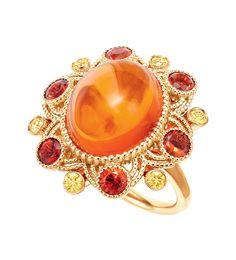 Tiffany & Co. 2014 Blue Book Fire Opal Ring