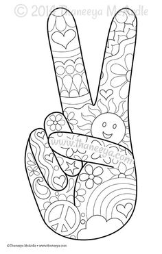 color fun coloring page blank by thaneeya - Simple Printable Coloring Pages