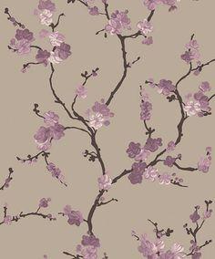 """Beigeguldig med lila körsbärsblomma""""Rondo Plum"""""""