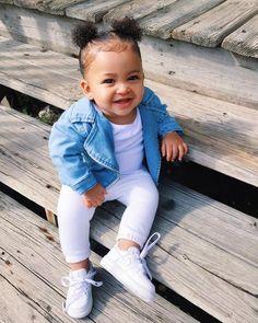 Cute Little Girls Outfits, Kids Outfits Girls, Cute Kids Fashion, Baby Girl Fashion, Cute Mixed Babies, Cute Babies, Mix Baby Girl, Black Baby Girls, Outfits Niños
