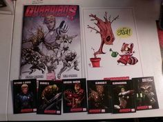 Guardians of the Galaxy #1 Sketch Fade Variant Comic, Lithograth, and Card Set