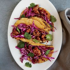 Beef Chorizo Tacos with Cabbage Slaw Recipe