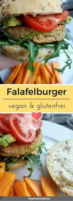 Ran an die Falafel! Knusprig und sättigend. Da lacht das Burgerherz. Einen besseren Patty gibt es eigentlich nicht. #falafel #falafelburger #burger #vegan #glutenfrei #veganfood #rezept Healthy Vegetable Recipes, Vegetarian Recipes, Patty Food, Falafel Burgers, Homemade Burgers, Going Vegan, Food Inspiration, Chicken Recipes, Keto Chicken