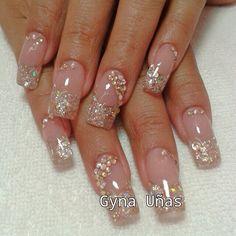Cute Acrylic Nails, Cute Nails, Pretty Nails, Elegant Nails, Stylish Nails, Shiny Nails, Gel Nails, Colorful Nail Designs, Nail Art Designs