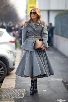 Anna Dello Russo, Milan Street Style Photo credit: Diego Zuko