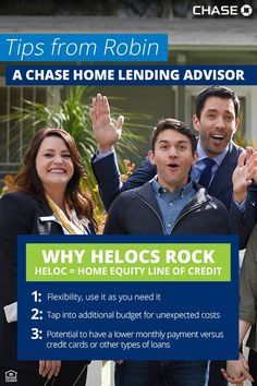 Find out if a HELOC would be a good financing option for your home project. Talk to a Chase Home Lending Advisor.