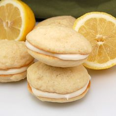 These Lemon Whoopie Pies with a zingy lemon cream cheese filling are sure to brighten even the rainiest spring day! Refreshingly tart and moist, these lemon cake cookies are sandwiched together wit...