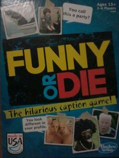 Funny or Die The Hilarious Option Board Card Game (Teen Christmas Gift Idea)