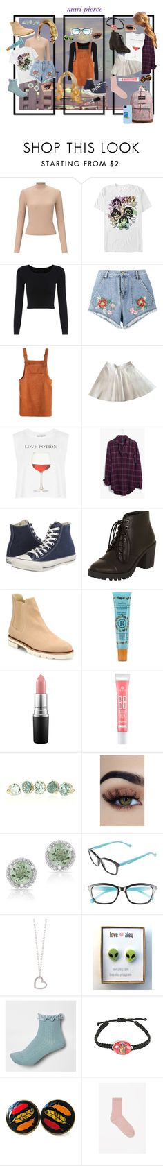 """mari pierce: campus"" by thewhoreofcookies ❤ liked on Polyvore featuring Miss Selfridge, Fifth Sun, House of Holland, American Apparel, Wildfox, Madewell, Converse, Dorothy Perkins, Stuart Weitzman and Smith's"