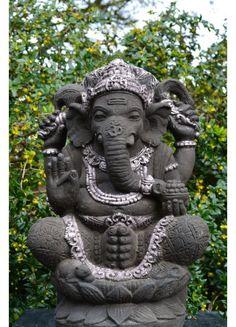 Ganesha Beeld Silver 55 Cm