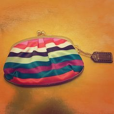 Coach Coin Purse Super cute! In great condition! A few small spots of wear on the outside (front & back) but barely noticeable. Perfect for a night out! ALL PRICES ARE NEGOTIABLE, please no low-balling. Coach Bags Wallets