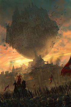 Dark Fantasy Art - Trend in 2020 High Fantasy, Dark Fantasy Art, Fantasy Concept Art, Fantasy City, Fantasy Places, Fantasy Kunst, Fantasy Rpg, Medieval Fantasy, Fantasy Artwork