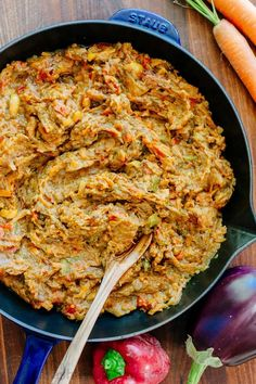 """Authentic sautéed eggplant spread. Baklazhannaia Ikra means """"poor man's caviar."""" The ingredients of this eggplant recipe are simple but flavors are spectacular! 
