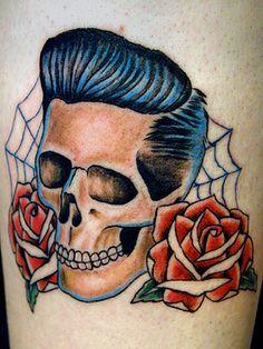 Rockabilly Tattoos | Rockabilly Skull Tattoo Picture