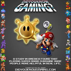 Playing Super Mario Sunshine made people more helpful?