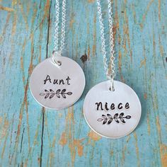 Aunt And Niece Necklaces Gift By Tagsandthingsbyk