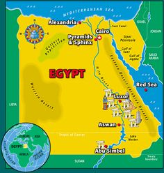 Ancient Egypt Maps for Kids and Students ~ Ancient Egypt Facts